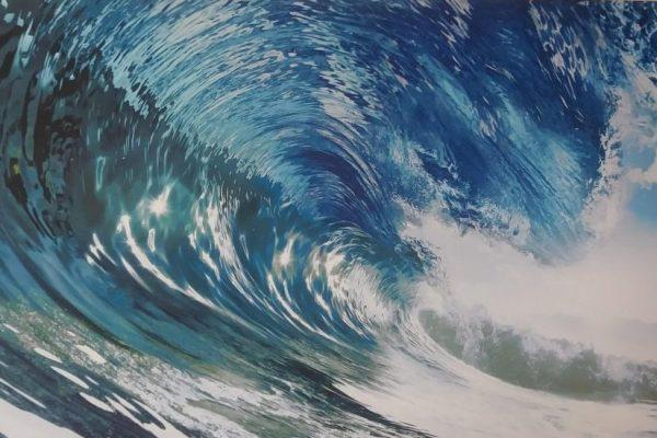 blue curling wave